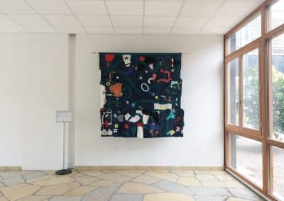 Carte des égalités réelles et idéales, présentée dans le hall du bâtiment d'accueil de l'Université de Montpellier, Campus Triolet- mars 2017