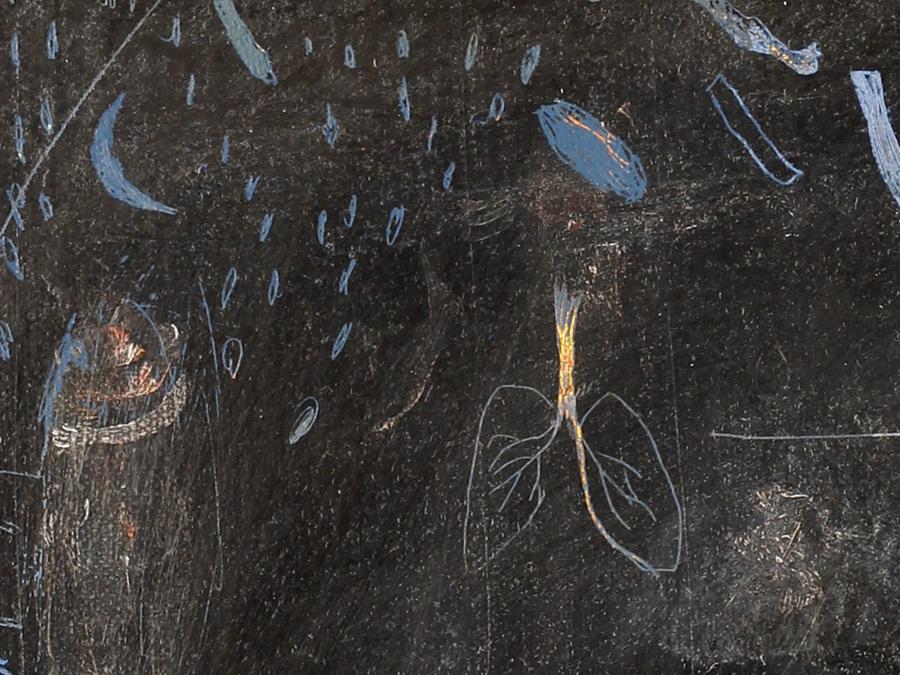 huile sur toile - Les mémoires génétiques - hélène duclos
