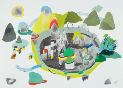 Série : Pièces à assembler Titre : paysage / ville