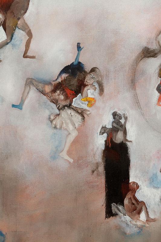 huilse sur toile - Hélène duclos
