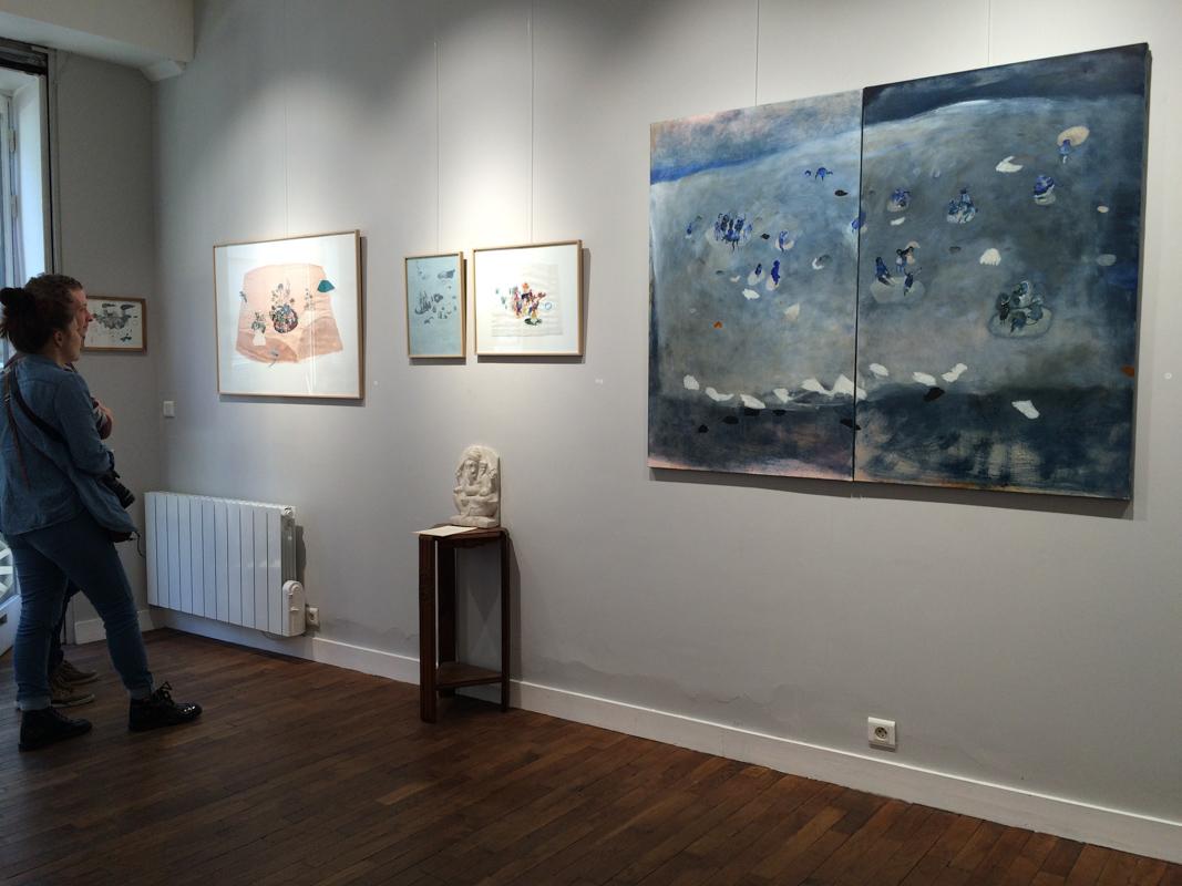 vue d'exposition - galerie Rousseau Tours - hélène duclos
