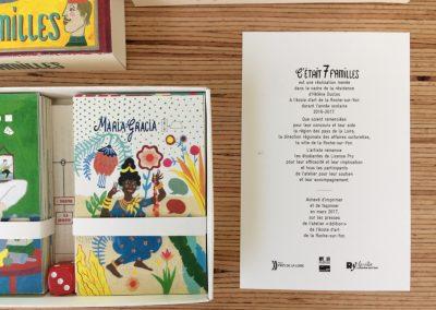 """Restitution du projet """"C'était 7 familles"""" — Ecole d'art de la Roche-sur-Yon — mars2017 - Hélène Duclos"""