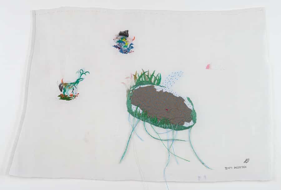 arts textile- Temps incertain-hélène duclos