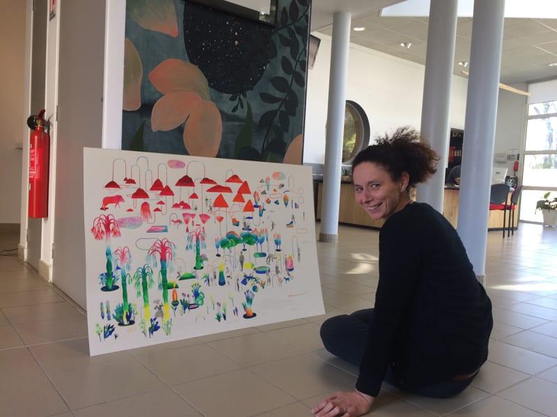Résidence de création à la Bouvardière - Saint-Herblain - mars 2019 - Hélène Duclos