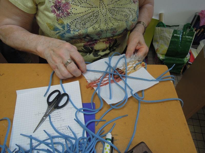 workshop art textile - Ecole d'art de la Roche sur Yon - Hélène Duclos