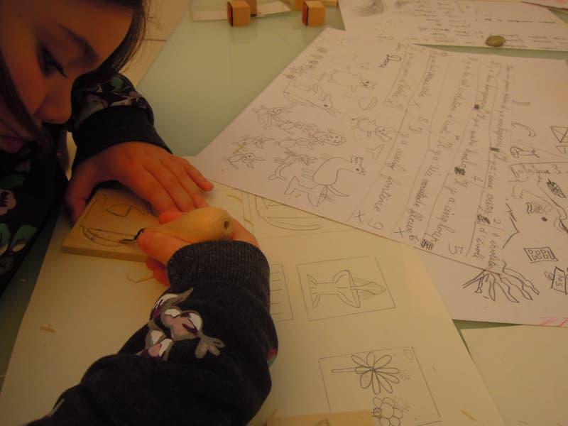 workshop enfants - Ecole d'art de la Roche sur Yon - Hélène Duclos